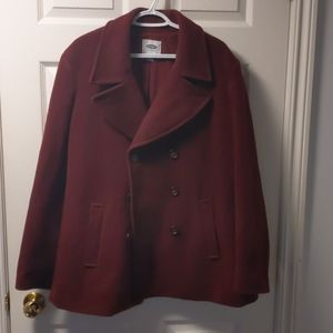 Old navy Xxl Red wool peacoat $20